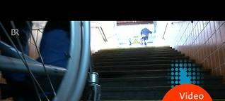 Treppenwitz Barrierefreiheit: Bahnhof Zirndorf ist zu groß | quer vom BR