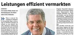 Leistungen effizient vermarkten  (Gastbeitrag AHGZ)