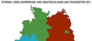 Gas- und Strompreise: Wo Deutschland am teuersten ist und wo es beim Umzug günstiger wird.