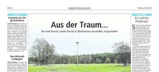 Storchenansiedelung gescheitert (Offenbach-Post, 2016)