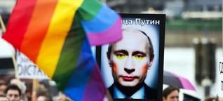 Homosexuelle in Russland: Wenn der Stadtbummel zu Propaganda wird | Sueddeutsche.de