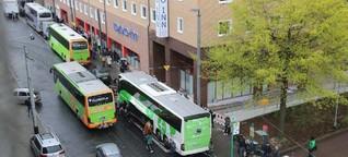 Busbahnhof Frankfurt: Chaos am Busbahnhof