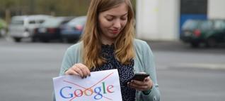 Eine Woche ohne Google - mit allem, was dazu gehört