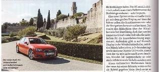 Fahrbericht Audi A4