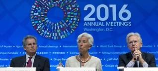"""Herbsttagung von IWF und Weltbank: """"Tut endlich was!"""""""