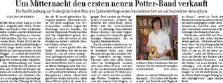 Um Mitternacht den ersten neuen Potter-Band verkauft
