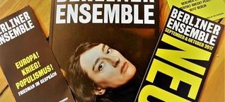 Das Berliner Ensemble hebt den Vorhang...