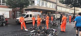 Nach Gewaltnacht in der Schanze: Hamburg räumt auf
