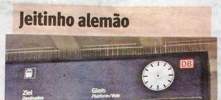 Warum eine Uhr im Tübinger Hauptbahnhof Schlagzeilen in Brasilien machte und das wieder hier ein Thema war
