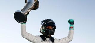 Nico Rosberg gesteht: WM-Pokal mit Delle abgegeben