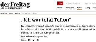 "Interview Eva Demski - ""Ich war total Teflon"""
