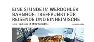Hotspot Bahnhof: Fleischwurst ist Kitt für Kumpel-Trio