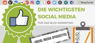 Die richtigen Social Media Netzwerke für Dein Blog Marketing