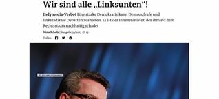 """Indymedia-Verbot - Wir sind alle """"Linksunten""""!"""
