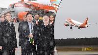 BILD an Bord | Easyjet startet ersten Flug von Berlin nach München