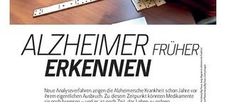 Alzheimer früher erkennen