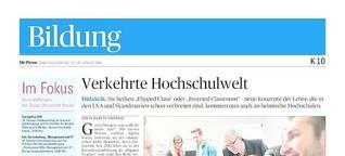 """""""Verkehrte Hochschulwelt"""", Die Presse 27./28. Jänner 2018"""
