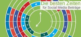 Infografik: Wann und wie oft Du auf Social Media posten solltest