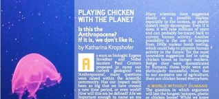 Anthropocene: Playing Chicken With The Planet