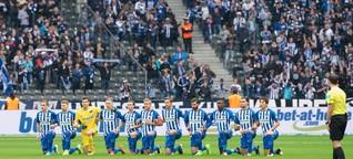Herthas Kniefall gegen Rassismus: Die Fans reagieren skeptisch