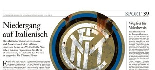 Niedergang auf Italienisch