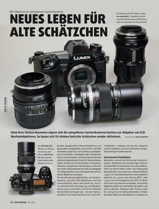 Alte Objektive an aktuellen Systemkameras