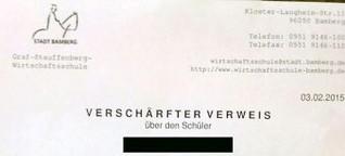Unhaltbarer Verweis an Bamberger Schule