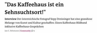 """Interview - """"Das Kaffeehaus ist ein Sehnsuchtsort!"""""""