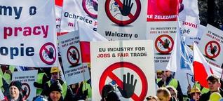 Billig-Konkurrenz aus China: Stahl-Arbeiter schlagen in Brüssel Alarm