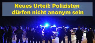 Europas höchste Richter kritisieren Deutschland, weil Polizisten hier anonym bleiben