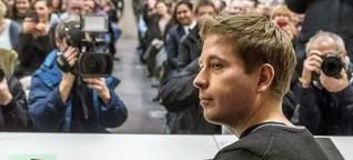 """Selfies mit Kevin Kühnert.  """"No GroKo""""-Runde der Berliner Jusos"""
