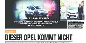 Opel Ampera-e: Dieses Auto gibt es nicht