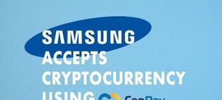 Bezahlung per Kryptowährung erlaubt: Samsung kooperiert mit CopPay