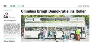 Omnibus bringt Demokratie ins Rollen