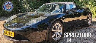 Unterwegs im Tesla Roadster Sport