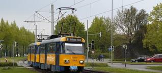 Vergnieschn in dr Straßnbahn