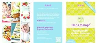Name und Flyer für ein veganes KiTa-Catering
