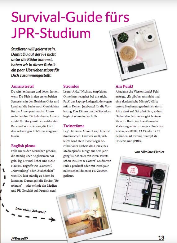 Survival-Guide fürs JPR-Studium