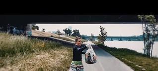 Joggen und Müll sammeln: Das war das 1. Plogging-Event Österreichs auf der Wiener Donauinsel