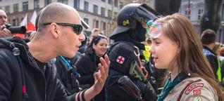 Mutige 16-Jährige bietet Nazi die Stirn