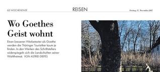 NZZ: Wo Goethes Geist wohnt
