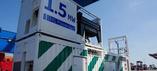 Strom aus dem Container für Ozeanriesen