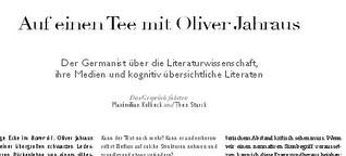 Auf einen Tee mit Oliver Jahraus