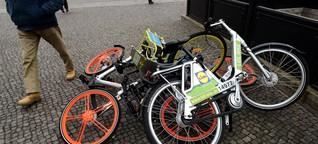 Chaos mit Leihfahrrädern: So soll es eingedämmt werden