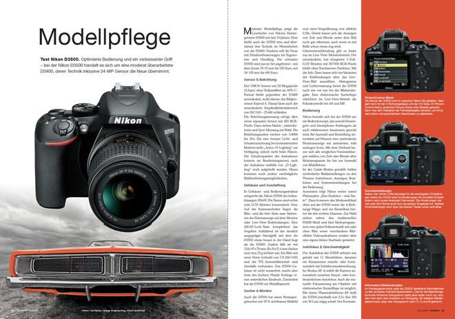 »Modellpflege« • ColorFoto-Test Nikon D3500