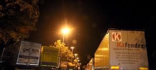 Eine Nacht auf dem Rastplatz