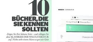 TOP 10 Weltliteratur - Bücher, die Sie kennen sollten