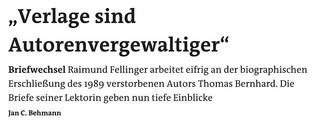 """""""Verlage sind Autorenvergewaltiger"""""""