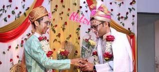 Indiens erste Single-Börse für Homo-Ehen