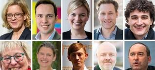 Bayerische Spitzenkandidaten über Marihuana, Mieten und Metoo